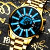 2021 Fashion Mens Stainless Steel Watches Luxury Men Business Casual Analog Quartz Wristatch Male Calendar Watch Reloj Hombre Fashion Life & Accessories Iwatch & Accessories