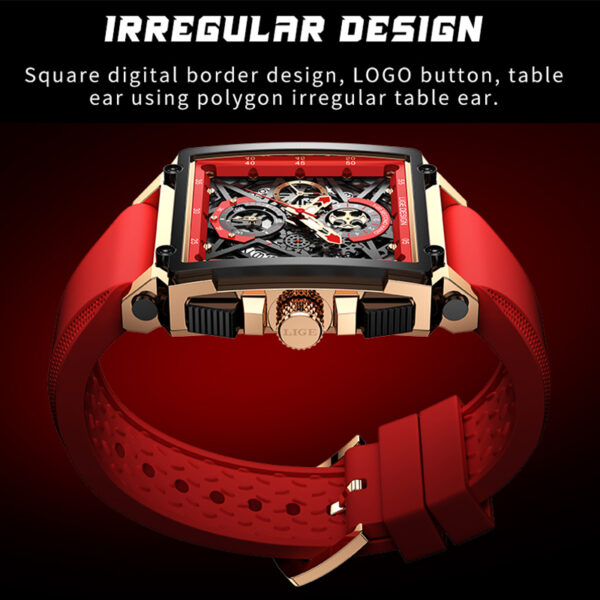 2021 LIGE Men Watches Waterproof Top Brand Luxury Silicone Square Sports Quartz Watch Clock Male Relogio Masculino Montre Homme Fashion Life & Accessories Iwatch & Accessories