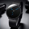 2021 Mens Fashion Minimalist Watches Men Business Casual Quartz Watch Simple Male Stainless Steel Mesh Band Clock Reloj Hombre Fashion Life & Accessories