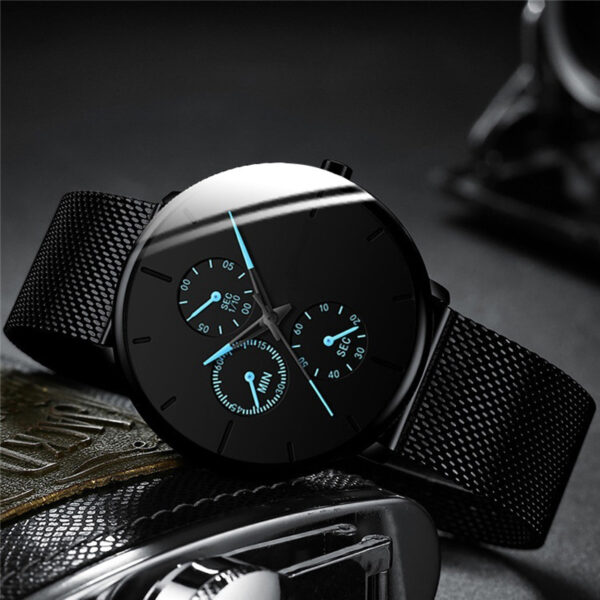 2021 Mens Fashion Watches for Men Business Casual Ultra Thin Clock Male Stainless Steel Mesh Belt Quartz Watch relogio masculino Fashion Life & Accessories Iwatch & Accessories