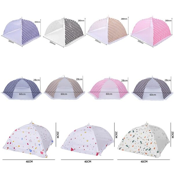 2021 New Anti Fly Mosquito Food Dish Cover Kitchen Folded Mesh Food Cover BBQ Picnic Kitchenware Umbrella Style Kitchen Tools Kitchen