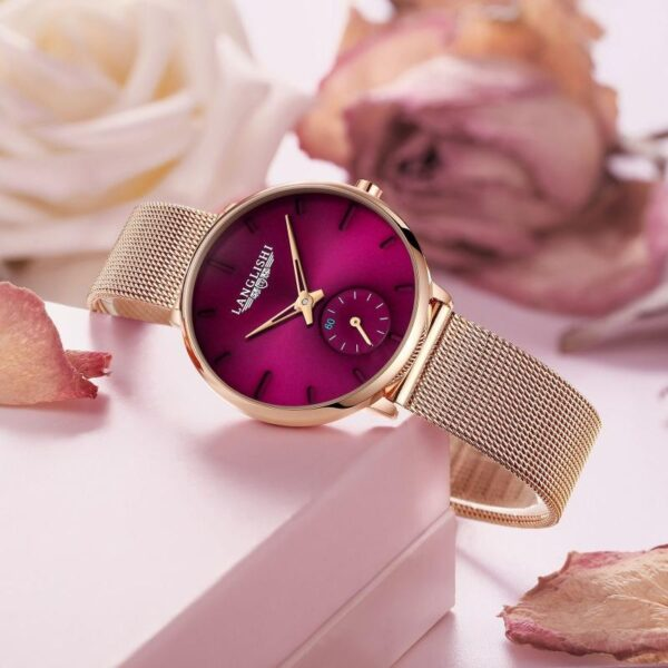 2021 New Brand Waterproof Women Watch Korean Version Simple Fashion Ins Chain Small Dial Dismond Trend Girl Female Watch Fashion Life & Accessories Iwatch & Accessories
