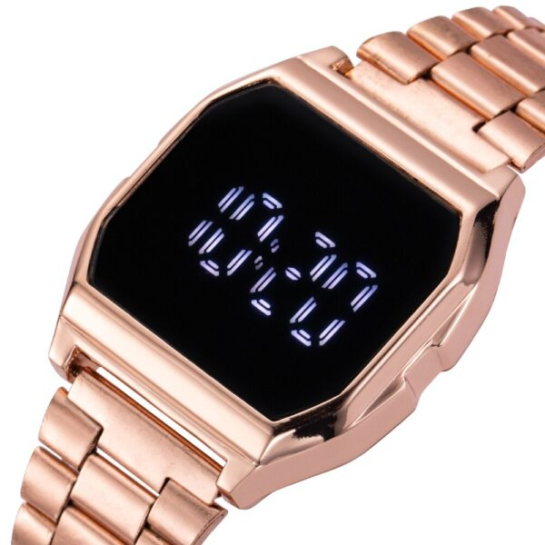 2021 New LED Watch for Women Digital Watches Ladies LED Watch Stainless Steel Top Brand Luxury Wristwatch Electronic Clock Saati Fashion Life & Accessories Iwatch & Accessories