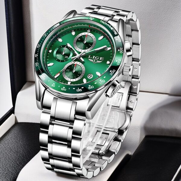 2021 New LIGE Luxury Top Brand Men's Sports Quartz Watches Stainless Steel Waterproof Chronograph Reloj Hombre Relogio Masculino Fashion Life & Accessories