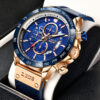 2021 New LIGE Watches Chronograph Sport Mens Watches Quartz Clock Leather Male Wristwatch Relogio Masculino Fashion Gift for Men Fashion Life & Accessories