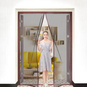 2021 New Magnetic Screen Door Curtain Anti-Mosquito Net Fly Insect Screen Mesh Automatic Closing Custom Size Easy Installation Bedrooms