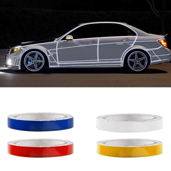 2021 New Reflective Strip Automobile Reflective Warning Waterproof Decoration Sticker Strip Motorcycle Car-styling Stickers Z4J7 Car accessories