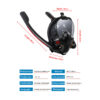2021 New Swimming Mask Adult Men Women Snorkel Mask Double Breath Mascara Tube Silicone Full Dry Scuba Diving Goggles Equipment Swimming