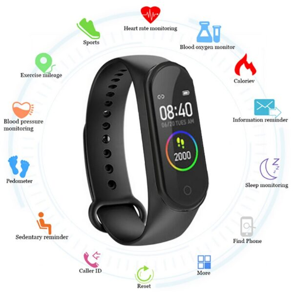 2021 Smart Band Sport Smart Watch Fitness Tracker Health Monitor Waterproof Band Men Women Android IOS Smartband for xiaomi Fashion Life & Accessories Iwatch & Accessories