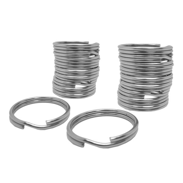 20Pcs/Lot 316 Stainless Steel Scuba Diving Gear Split Rings, Outdoor Camping Traveling Backpack Keyrings Scuba Diving Ring Swimming