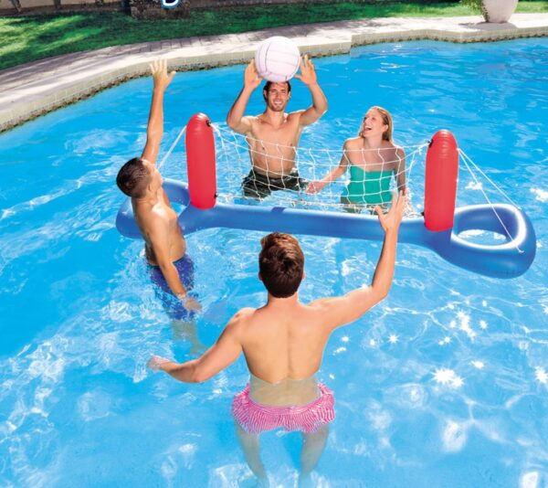 244*64cm Inflatable Swimming Pool Volleyball Goal Net With Ball Sets Football Basketball Game Water Sports Floating Party Toy Swimming