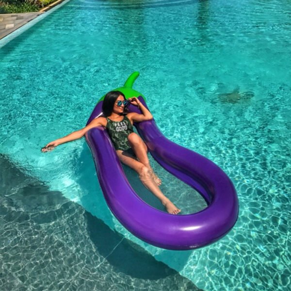 254CM Eggplant Inflatable Pool Floats Raft Swimming Ring Lounge Chair Water Floating Toys Water Fun Pool Toy Kids Swimming Ring Swimming