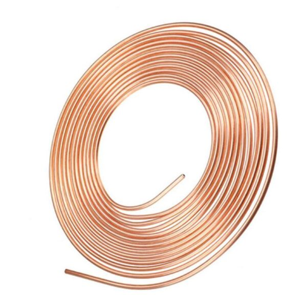 25ft 7.6m Roll Tube Coil of 3/16″ OD Copper Nickel Brake Pipe Hose Line Piping Tube Anti-rust With Nuts Car accessories