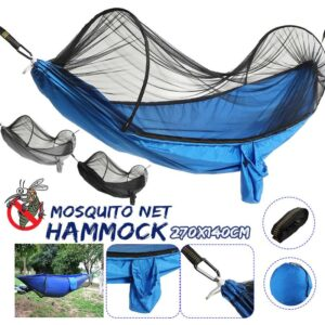 270*140cm Outdoor Camping Hammock Portable Mosquito Net Hammock Canopy 210T Nylon Hammocks With Mosquito Net For Outdoor Camping Bedrooms