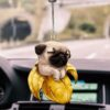 2D Creative Dog and Cat Car Pendant Backpack Ornament Cute Hanging Ornament Keychain Car Interior Crafts Home Decoration Car accessories