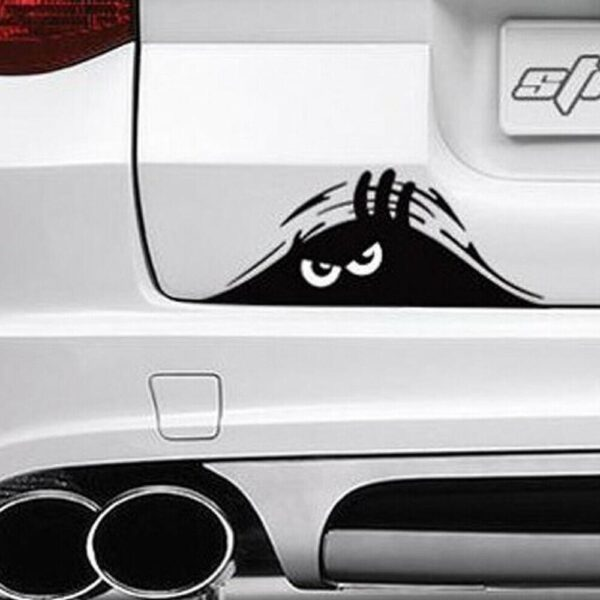 2PCS Newest Car Styling Dune Sand Peeping Peering Fiesta Sticker For Toyota Opel Decal Peugeot Car Dropsh A4Q8 Car accessories