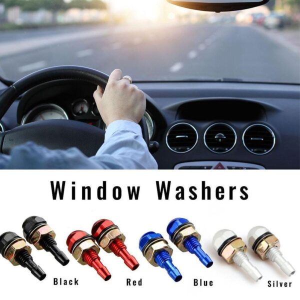 2Pcs Fan-Shaped Car Cleaning Universal Washer Bonnet Front Windshield Water Sprayer Auto Wiper Jet Nozzle Car accessories