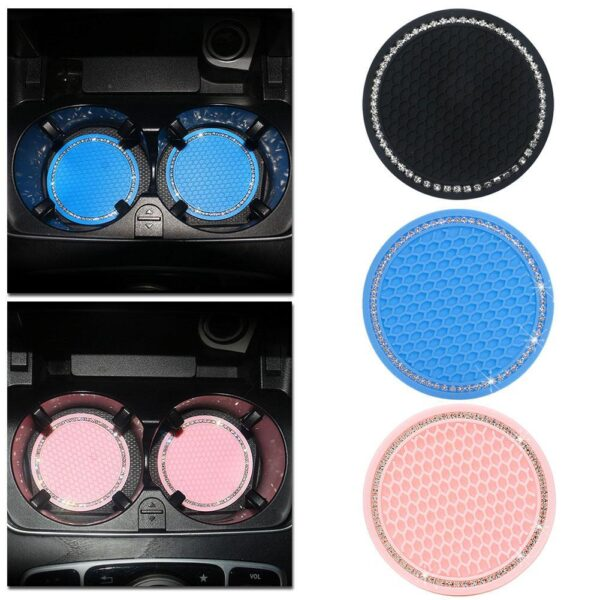 2pcs Car Coaster Water Cup Bottle Holder Anti-slip Pad Mat Silica Gel For Interior Decoration Car Styling Accessories Car accessories