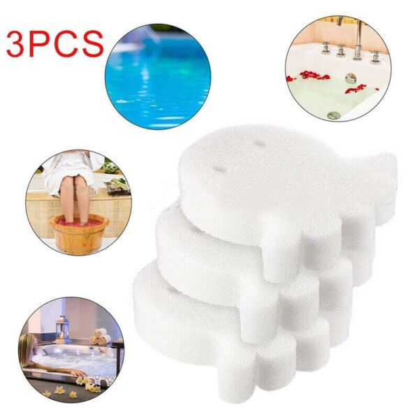 3 Pcs White Floating Spa Sponge Cartoon Turtle Oil Absorbing Hot Tub Skimmer Scum Absorber Cleaners For Swimming Pool Dropship Swimming