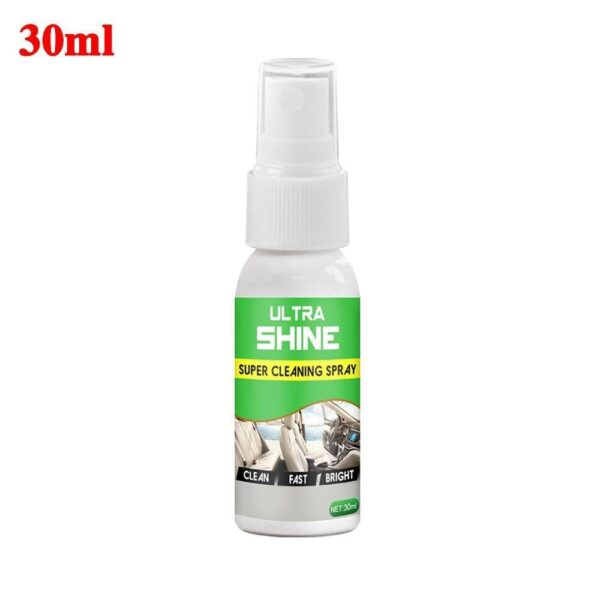 30/256ml Car Seat Interior Cleaner Auto Leather Clean Dressing Cleaner for Fabric Plastic Vinyl Leather Surfaces Car Accessories Car accessories