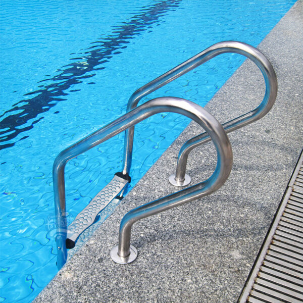 304 Stainless Steel Escalator Pedal Pool Ladder Accessories Non-Slip Pedal Swimming Pool Accessories Antiskid Ladder Silvery Swimming