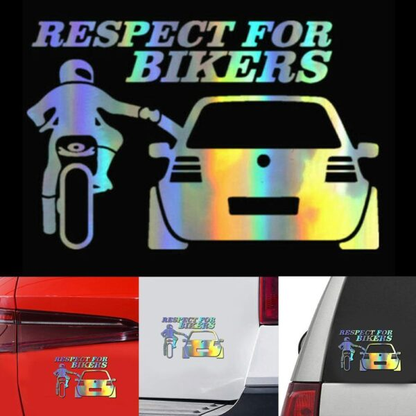 3D Respect for Cyclists Waterproof Reflective Biker Motorcycle Car Auto Accessoires Sticker Decal Funny JDM Vinyl On Car styling Car accessories