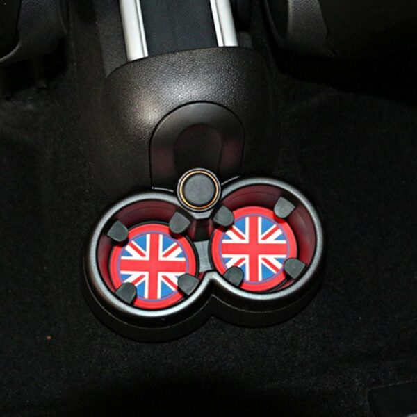 3PC Useful Cup Shockproof Silicone Mats Non-Slip Pads man For MINI COOPER Country R57/60 R55/56 one coopers F55/56 Club Min F7Z8 Car accessories