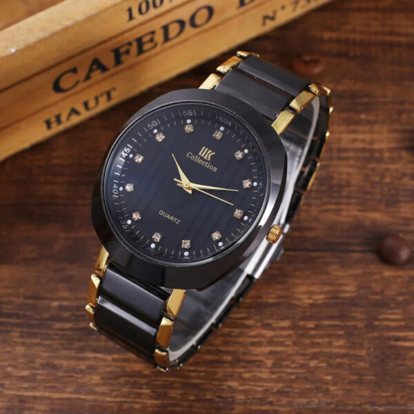3pcs/set Men Sport Quartz Watch Black Leather Belt Signing Pen Fashion Quality Gift Box for Men Business Gifts Drop Shipping Fashion Life & Accessories Iwatch & Accessories