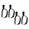 4Pcs Stretch Rubber Dive Hose Retainer Band for 12L Stage Bottle Durable Snorkeling Dive Tank Cylinder Strap Swimming