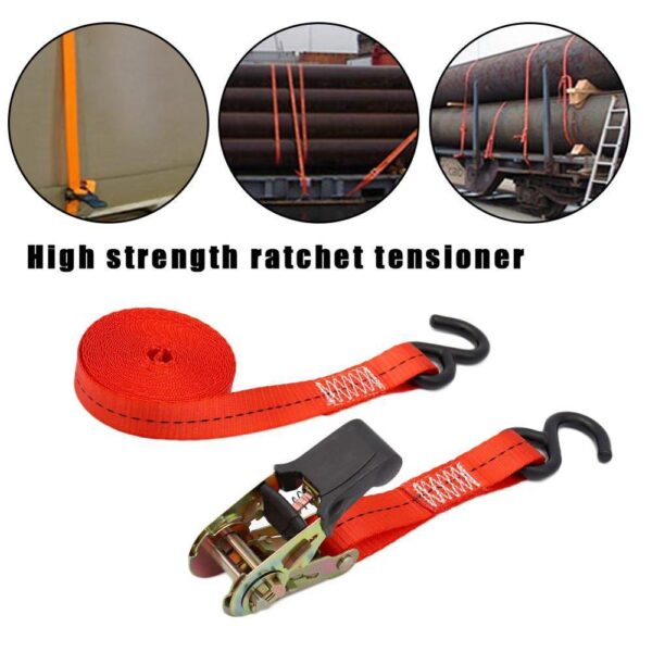 4m/5m Ratchet Tie Down Cargo Straps Moving Hauling Motorcycle Car Truck Accessories Camping Alloy buckle Styling Auto Car w I7X0 Car accessories