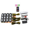 4pcs Car USB LED Atmosphere Starry Lights Flash Strobe Controller Auto Decorative Lamp RGB Music Rhythm Touch and Sound Control Car accessories