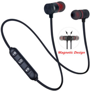 5.0 Bluetooth Earphone Sports Neckband Magnetic Wireless earphones Stereo Earbuds Music Metal Headphones With Mic For All Phones Earbuds