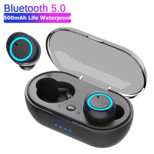 5.0 TWS Wireless Bluetooth Earphone Touch control 9D Stereo Headset with mic Sport Earphones Waterproof Earbuds LED display Earbuds