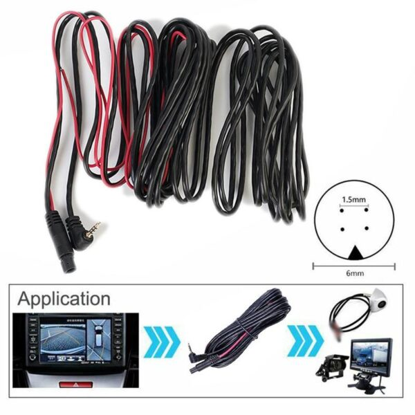 5.5M Car Rear View Parking Backup Camera Video Reverse Camera Cable Cord Vehicle Rear View Parking Video Extension Line Public Car accessories