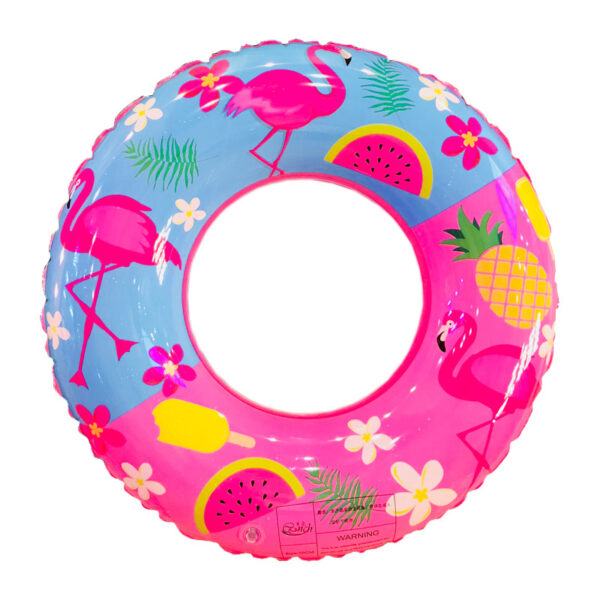 50/60/70/80/90cm Flamingo Print Swimming Ring For Children Adult Inflatable Pool Float Boys Girls Floats Fun Water Summer Toys Swimming