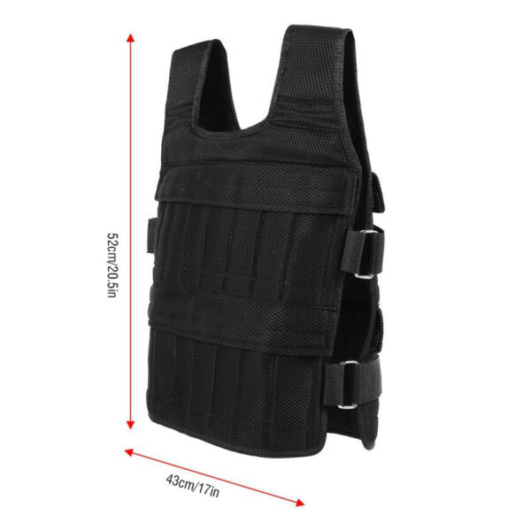 50 Kg Running Exercise Empty Weight Vest Boxing Training Adjustable Shank Wrist Wraps Swat Loading Weight Vest Fitness Equipment Swimming