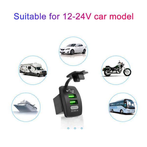 5V 3.1A Universal Car Charger Waterproof Dual USB Ports Auto Adapter Dustproof Phone Charger For Iphone Xiaomi Redmi Samsung Car accessories
