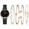 5pc/set Luxury Brand Women Watches Starry Sky Magnet Watch Buckle Fashion Casual Female Wristwatch Roman Numeral Simple Bracelet Fashion Life & Accessories Iwatch & Accessories