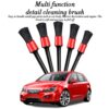 5pcs Car Detailing Brush Auto Cleaning Car Cleaning Detailing Set Dashboard Air Outlet Clean Brush Tools Car Wash Accessories Car accessories