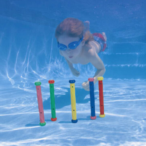 5pcs Kids Diving Grab Sticks Underwater Playing Diving Toy Pool Play Outdoor Sport Swimming Learning for for Water Sports Swimming