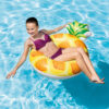6 Styles Giant Lie-on Pool Float Swimming Ring Water Float Air Mattress Inflatable Pineapple Crab Pizza Shell Ice Cream Pool Swimming