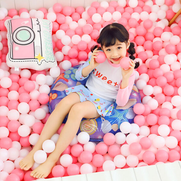 60/70/80/90cm Blue Seashell Print Swimming Ring For Children Adult Inflatable Pool Float Boys Girls Floats Fun Water Summer Toys Swimming