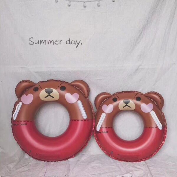60/70CM Brown Bear Happy Rabbit Inflatable Swimming Ring for Pool Float Swimming Ring Swiming Wheels Gonflable Piscina Boias Swimming