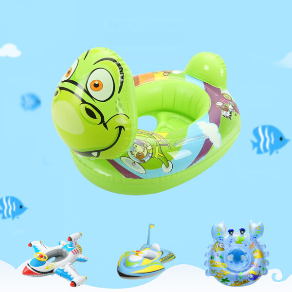 8 Styles Swimming Baby Seat Ring Tube Baby Double Airbags Floating PVC Inflatable Baby Swim Float Seat Swimming Safety Circle Swimming