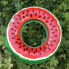 80cm Watermelon Pool Float Inflatable Circle Swimming Ring for Kids Adult Floating Seat Summer Beach Party Pool Toys Swimming