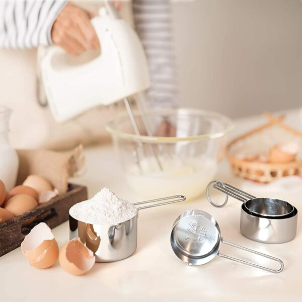 8pcs Measuring Spoon Measuring Cups Rose Gold Stainless Steel Measuring Spoons Scoop Kitchen Measuring Tools Set Kitchen Gadgets Kitchen