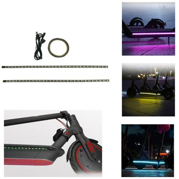 9 LED RGB Car Interior Atmosphere Footwell Strip Light Charger Skateboard Lamp Decor Cycling USB Lights Decorative Lamp Bar Y2G8 Car accessories