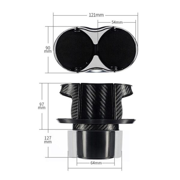 ABS Material Car Cup Holder Drink Bottle Mount Stand Cup Adjust Organizer Holder Color Adapter Black Base Y3S3 Car accessories