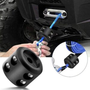 ATV UTV Winch Stopper Rubber Heavy Duty Cable Line Saver Waterproof Rope Hook Car accessories