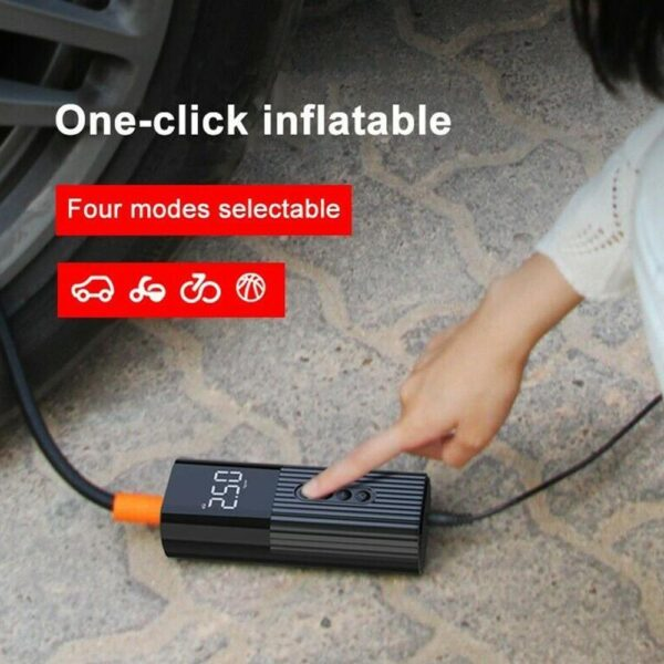 Air Compressor 12V Portable Electric Air Pump 71 PSI Mini Car Tire Inflator for Motorcycle Bicycle Digital Tyre Pump Car accessories